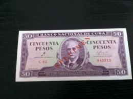 CUBA CHE GUEVARA 50 Pesos 1961 SPECIMEN Xf Unc - Cuba