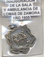 INAUGURACION DE LA SALA Y AMBULANCIAS LOMAS DE ZAMORA AÑO 1905 RARISIME - PROVINCIA DE BUENOS AIRES ARGENTINA - Other