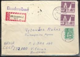 GERMANY Deutschland D DDR Brief 0348 HENNIGSDORF Cancellation Postal History Architecture - [6] Democratic Republic