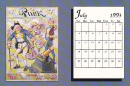 July 1993 Limited Editon Calendar Card - Astronomy
