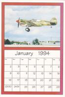 January 1994 Limited Editon Calendar Card AirShow '94 Curtiss P-40 - Astronomy