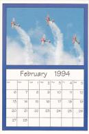 February 1994 Limited Editon Calendar Card AirShow '94 Stearman Biplane - Astronomy