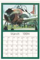 March 1994 Limited Editon Calendar Cardm AirShow '94 T-28 Traine