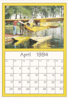 April 1994 Limited Editon Calendar Cardm AirShow '94 Piper J-3 C