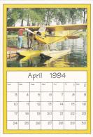 April 1994 Limited Editon Calendar Cardm AirShow '94 Piper J-3 Cub - Astronomy