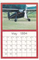 May 1994 Limited Editon Calendar Cardm AirShow '94 1933 Fairchild 24 C8A - Astronomy