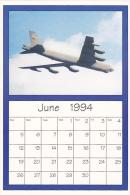 June 1994 Limited Editon Calendar Cardm AirShow '94 Boeing B-52 Stratofortress - Astronomy