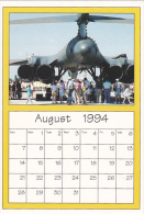 August 1994 Limited Editon Calendar Cardm AirShow '94 B-1B Bombe