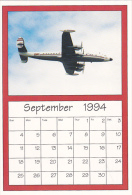 September 1994 Limited Editon Calendar Cardm AirShow '94 Boeing Super Constellation - Astronomy