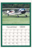 November 1994 Limited Editon Calendar Cardm AirShow '94 Cessna 195 - Astronomy