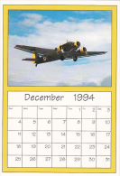 December 1994 Limited Editon Calendar Cardm AirShow '94 Junkers