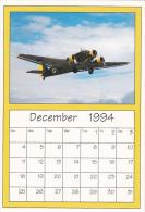 December 1994 Limited Editon Calendar Cardm AirShow '94 Junkers JU-52 - Astronomy