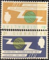 GIBRALTAR  - TELECOM - ITU - UIT - 4 D  INVERTED  Wz - Wmk - **MNH - 1965 - Gibilterra