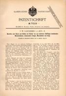 Original Patentschrift - F. Gantenberg In Aue I.S., 1894 , Maschine Zum Glätten Von Kragen Und Manschetten , Wäsche !!! - Maschinen