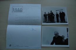 Henri Robin, 50 è Anniversaire Coeurs Vaillants, Let Autographe Et 2 Photos (Ministres Soissons Et ?) 1979 ; Ref 927 - Autographes