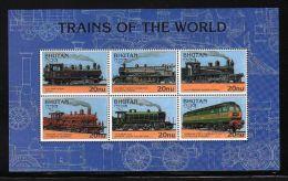 Bhutan - 1996 Railways Kleinbogen (1) MNH__(THB-799) - Bhutan
