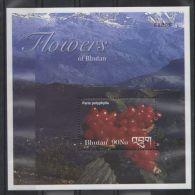 Bhutan - 2002 Flowers Block MNH__(TH-6976) - Bhutan