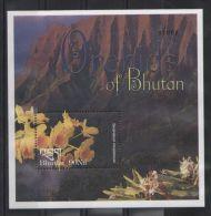 Bhutan - 2002 Orchids Block MNH__(TH-6977) - Bhutan