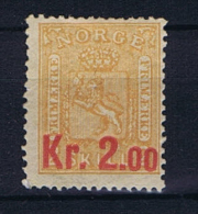Norway: 1905 Mi Nr 64 MH/*