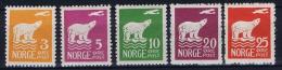 Norway: 1925 Mi Nr  109 0 115 MNH/** Part Serie - Noorwegen