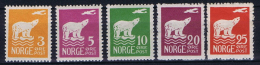 Norway: 1925 Mi Nr  109 0 115 MNH/** Part Serie