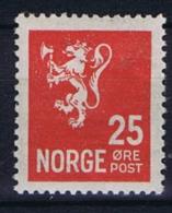 Norway: 1926 Mi Nr  125 A  MH/* - Ongebruikt