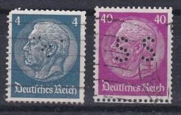 D 122)  Perfin: Deutsches Reich MiNr 467 (?), 491 (SS) - Gebraucht