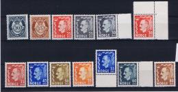 Norway: 1950 Mi Nr  353 - 368  MNH/**  Part Serie - Noorwegen