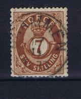 Norway: 1872, Mi  21 Used - Gebruikt