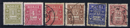 Norway: Postage Due  , Mi  1 - 6 Used / MH - Strafport