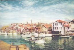"ADV: ""Dear Doctor"" PENTOTHAL Drug ; Fishing Boats Waterfront, GOTEBORG, Sweden, PU-1957 - Suède"