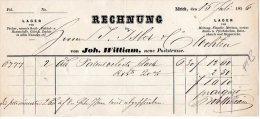 RECHNUNG -LAGER VON TUCHER-HOSENSTOFFE-VON JOH. WILLIAM-ZURICH-15-7-1856 - Schweiz