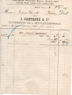 BULLE-SWISSE-6-9-1886-EXP OSIZION NATIONALE SUISSE,ZURICH 19883-DIPLOM POUR FABRICATION SUPERIOR-J. GRETE - Schweiz
