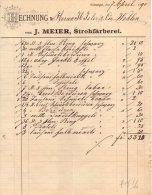 VILLMERGEN-7-4-1890-VON J. MEIER,STROHFARBEREI - Schweiz