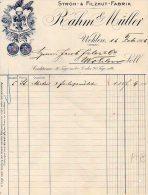 STROH -FILZHUT-FABRIK-RAHM & MULLER-WOHLEN-(AARGAU)-16 -2-1906-FACTURA - Schweiz