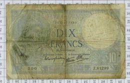 10 Francs Minerve Type 1915 Modifié, Ref Fayette 7-23, état B - 1871-1952 Antichi Franchi Circolanti Nel XX Secolo