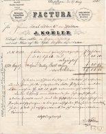 DIETICKON-ZURICH-27-8-188 1-FACTURA-VON J.KOHLER - Schweiz