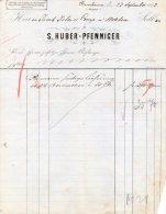 23-9-1882-BESEUBUREN-S.HU BER-PFENNINGER - Schweiz