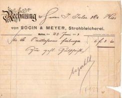 WOHLEN-23-6-1893-SOCIN & MEYER,STROHBLEICHEREI - Schweiz