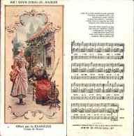 Chromo Floréine - Chanson Partition, Ah ! Vous Dirai-je, Maman (rouet) - Cromo