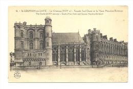 Cp, 78, Saint-Germain-en-Laye, Le Château, Façade Sud-Ouest Et La Place Maurice Berteaux - St. Germain En Laye (Château)