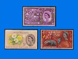 GB 1963-0004, Paris Postal Conference Centenary & National Nature Week, Single & Stamp Set, MH - 1952-.... (Elizabeth II)