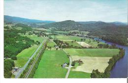 Aerial View Of East Thetford, Vermont  On The Connecticut River North Of White River Junction - United States