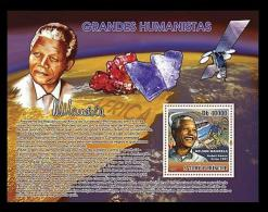 S. Tome MNH SS, Nelson Mandela, Nobel Peace, Minerals -  - Nobel Prize Laureates