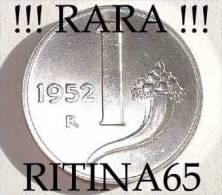 "RARA !!! 1 LIRA 1952 FDC "" CORNUCOPIA "" !!! - 1946-… : República"