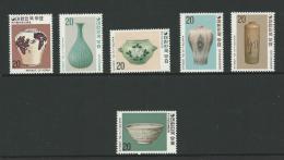 1977 Korean Ceramics   Set  Of  6 Complete MUH  As Issued - Korea, South
