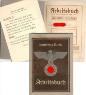 LIVRET INDIVIDUEL Du TRAVAIL ARBEITSBUCH  ALLEMAND 1942  WW2 - Documenti