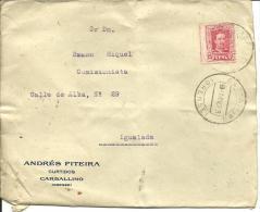 CARTA COMERCIAL  CARBALLINO ORENSE - 1889-1931 Kingdom: Alphonse XIII