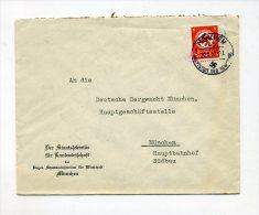 1937 3. Reich Brief Bayer. Staatsministerium 8 Pfg Behördendienstmarke D 136 + Verschlussmarke - Briefe U. Dokumente