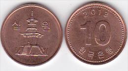 Y] Piece De 10 Wons Coin Coree Du Sud South Korea 2013 - Corée Du Sud